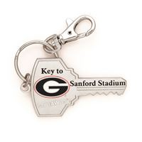 Picture of Georgia, University of Silver Key Shaped Key Ring