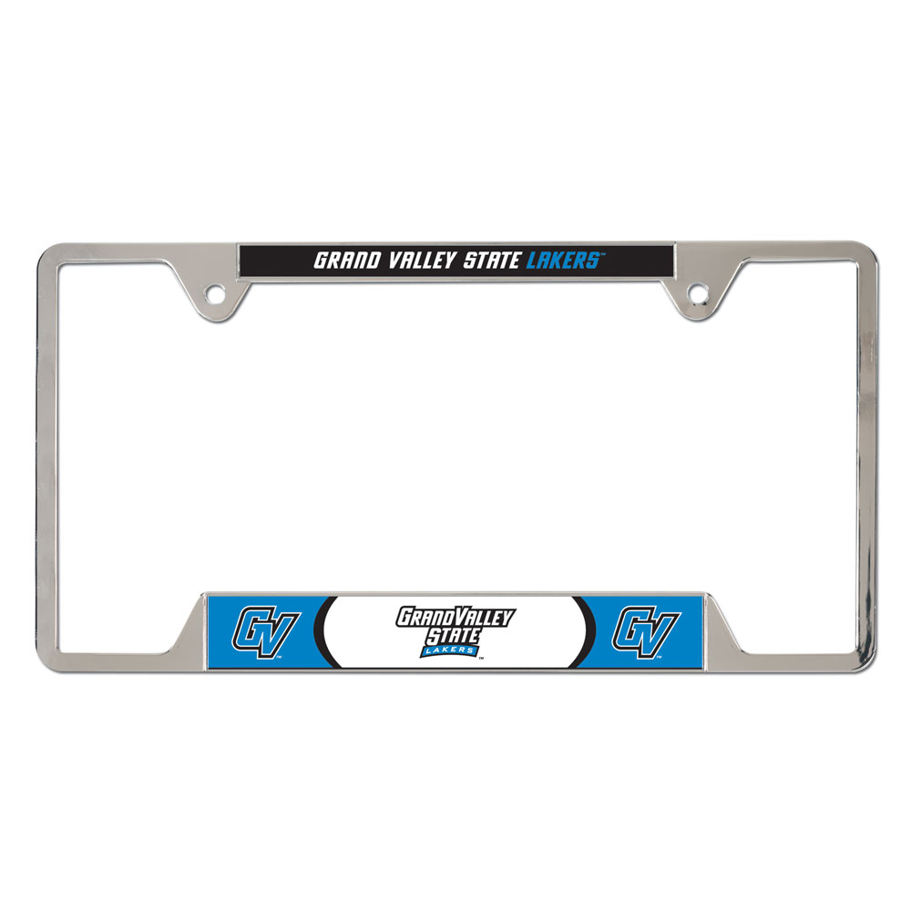 picture of grand valley state u metal license plate frame