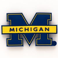 Picture of Michigan, University of Rubber Magnet