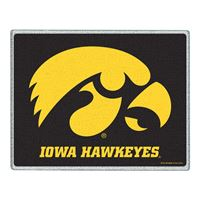 "Picture of Iowa, University of Glass Cutting Board 7"" x 9"""