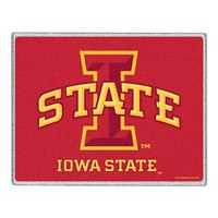 "Picture of Iowa State University Glass Cutting Board 7"" x 9"""
