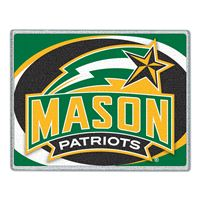 "Picture of George Mason University Glass Cutting Board 7"" x 9"""