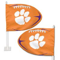 Picture of Clemson University Shaped Car Flag