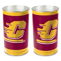 """Picture of Central Michigan University Wastebasket - tapered 15""""H"""