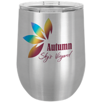 Picture of STM611 - Stainless Steel 12 oz. Sublimatable Polar Camel Stemless Wine Tumbler with Lid